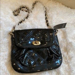 NWT LOFT Patent Leather chain bag